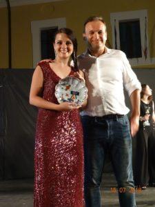 Sara Dall'Olio con il nostro presidente Cesare Zavatta